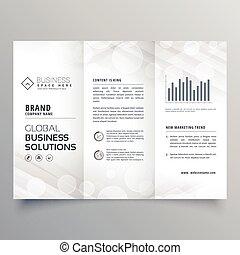 elegant white trifold brochure design for your business