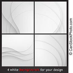 elegant, witte , zakelijk, achtergrond.