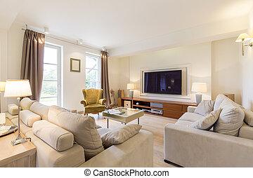 elegant, wohnzimmer
