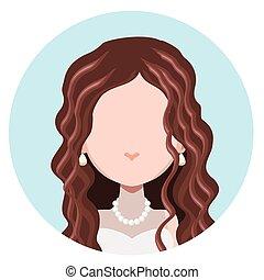 Elegant woman flat avatar