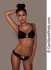 Elegant woman in lingerie