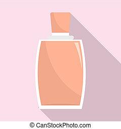 Elegant woman perfume icon, flat style