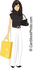 Elegant woman with handbag