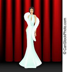 Elegant women on stage