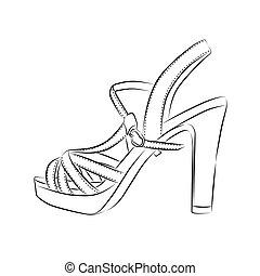Elegant womens high heel shoe