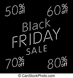 Elegant words Black Friday wear sale tags. Isolated on white. EPS 10 vector, grouped for easy editing. No open shapes or paths.