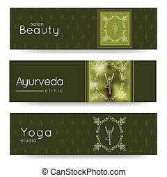 Elegant yoga vector banner. Professional banner templates...