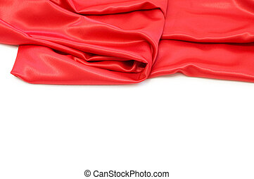 elegant, zacht, vrijstaand, satijn, rood