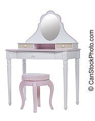 elegante, aliño, rosa, tabla
