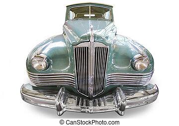 elegante, antico, automobile, isolato