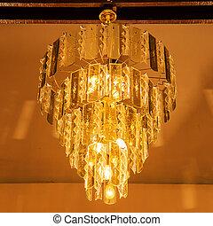 elegante, araña de luces, cristal