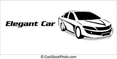 elegante, automobile., illustration., automobile