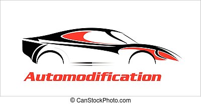 elegante, automobile., illustrazione, automobile