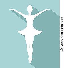 elegante, bailarín, símbolo