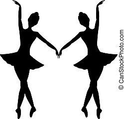 elegante, bailarines