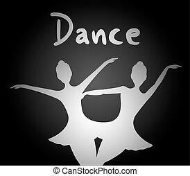 elegante, baile, ilustración