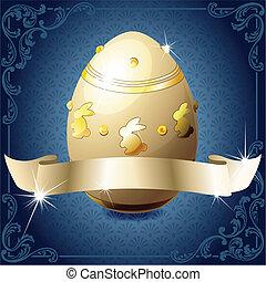 elegante, bandiera, uovo, cioccolato