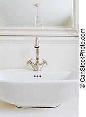 elegante, bathroom's, washbowl