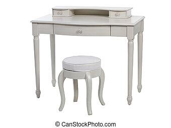 elegante, bianco, tavola veste