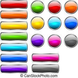 elegante, brillante, botones