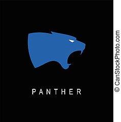 elegante, cabeça, panther., pantera