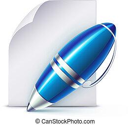 elegante, caneta esferográfica