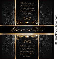 elegante, carta da parati, seamless