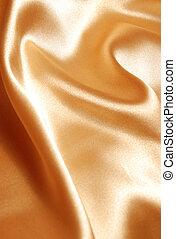 elegante, cetim, ouro, fundo