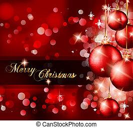 elegante, clásico, navidad, saludos