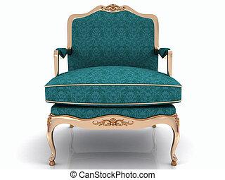 elegante, clásico, sillón