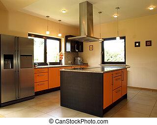 elegante, confortável, cozinha