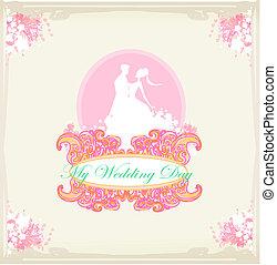 elegante, convite casamento