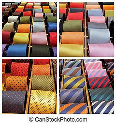 elegante, cravatta, collezione