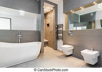 elegante, cuarto de baño, clásico