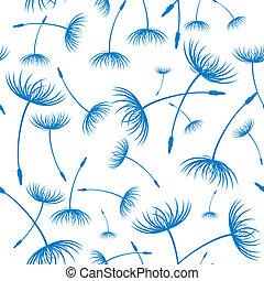 elegante, dandelion, seamless, vector., padrão