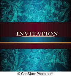 elegante, diseño, lujo, invitación