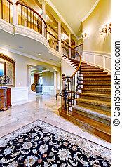 elegante, entryway, para, luxo, home.