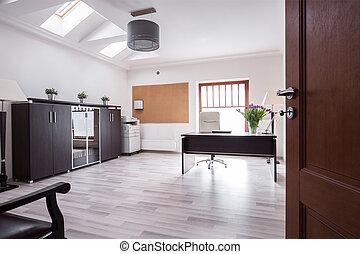 elegante, escritório, em, luxo, casa