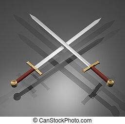 elegante, espadas