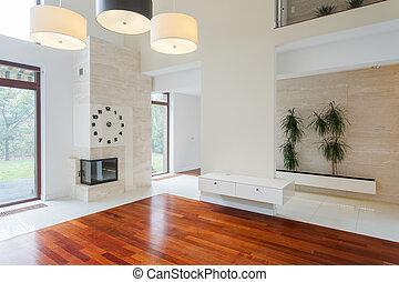 elegante, estilo, luxo, residência