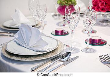elegante, festa cena