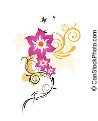 elegante, fiori