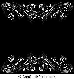 elegante, floral, marco, para, su, diseño
