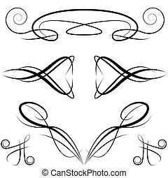 elegante, formal, elementos, desenho, convite