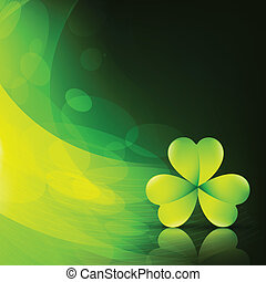 elegante, hoja, verde
