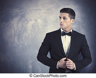 elegante, homem