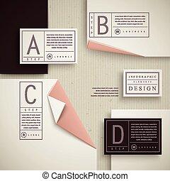 elegante, infographic, modelo, desenho