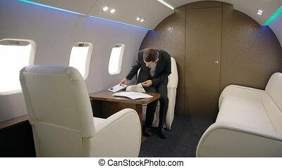 elegante, investitore, esperto, analista, uomo affari, è,...