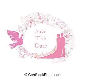 elegante, invitación boda