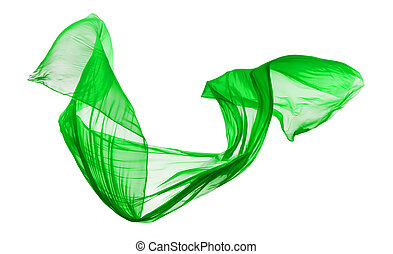elegante, liscio, stoffa, sfondo verde, bianco